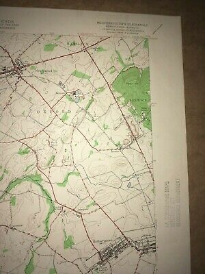 McSherrystown PA. Adams Co USGS Topographical Geological Survey Quadrangle Map 3