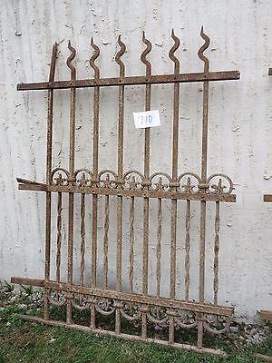Antique Victorian Iron Gate Window Garden Fence Architectural Salvage Door #710 3