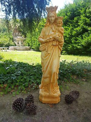 Statua Della Madonna Del Carmine Carmelo Da Esterno In Cemento Marmo E Pietr 4