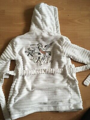 White Embroidered Dressing Gown From Next Age 3-4 104cm 2