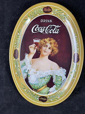 3 1973 Coca Cola Small Vintage Oval Mini Tin Tip Trays 6in x 4.5in