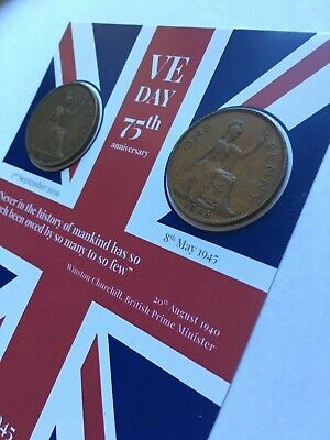 VE DAY FLAG 75th Anniversary Victory in Europe - Coins -1939 & 1945 8th May 2020 3