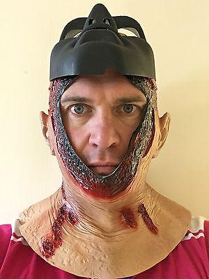Copricapo Jason Sanguinoso Maschera Cappuccio Latex Costume di Halloween Horror 5