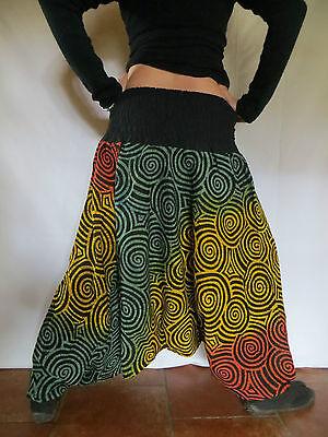Vetements Hippie Baba Cool Sarouel Ethnique Roopa Spiral Vert