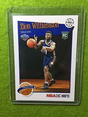 ZION WILLIAMSON ROOKIE CARD JERSEY #1 PELICANS RC 2019-20 Panini HOOPS rookie rc 5