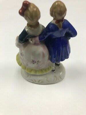 Vintage Victorian Occupied Japan Figurines Man and Woman 3