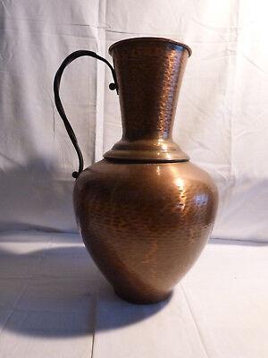 Antike Kupfer Blumen - Bodenvase GEKRA / Alte große Wasserkanne / Handarbeit