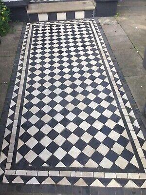 Encaustic Reclaimed Antique Victorian floor path tiles 5