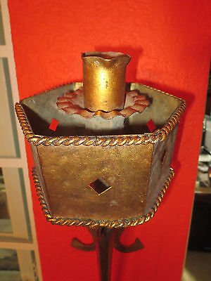 Regal Gilt Metal Gothic Torch Sconces Light Fixture 5