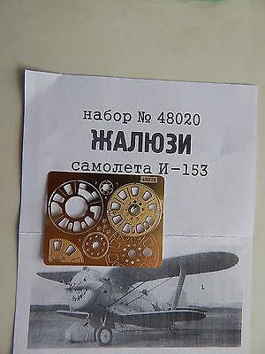 GoNzA 1//48 Yak-1//3,La-5,I-185,Bf 109F,I-16,I-153,LaGG-3,Ki-27 photo-etched parts