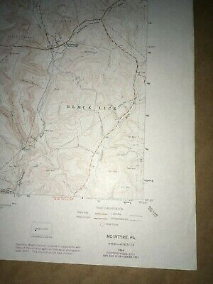 McIntyre PA. Indiana Co Old USGS Topographical Geological Survey Quadrangle Map 5