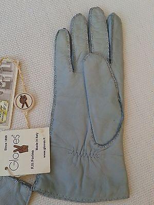 Guanti Donna in pelle col. carta da zucchero tg 6 Gloves Originali Lusso 7