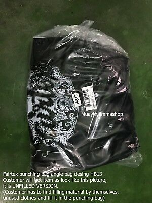 GENUINE Fairtex Muay Thai Kick Boxing K1 MMA Classic Heavy Bag HB2 UnFill