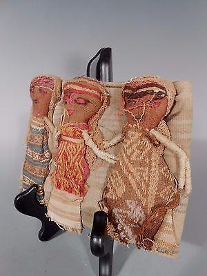 Peru Peruvian Central Coast Chancay Fabric Cotton Burial Dolls  #3 5