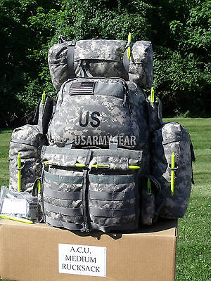 $259 Fully Loaded Molle ACU Medium Rucksack Military Backpack Hydration Pouches 3