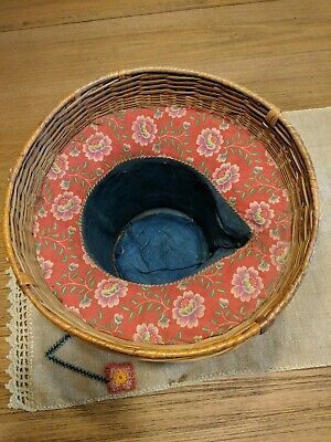 Vintage Early 1900s Chinese Teapot Basket Cozy, Stamped China 5