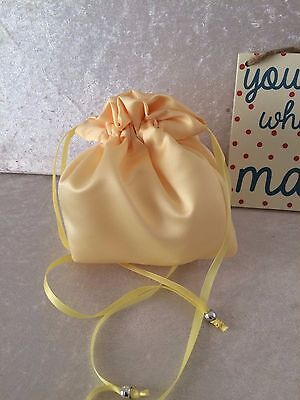 PLAIN DOLLY BAG BRIDAL BRIDESMAID FLOWER GIRL BNIP ASS. COLS. ** free samples** 5