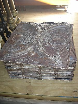 "Antique Tin Ceiling Squares 24"" x 24"" stripped.  7844"