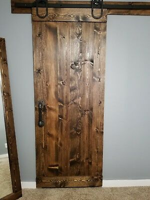 Black Pipe Sliding Barn Door Handle Industrial Steampunk Design 34
