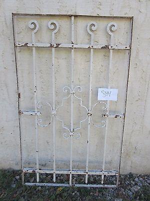 Antique Victorian Iron Gate Window Garden Fence Architectural Salvage #844 5