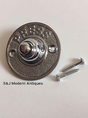 Round Door Bell Antique Mains Wire Vintage Push Button Chrome Victorian Doorbell 10