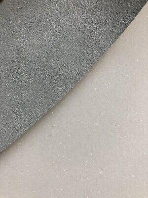 ORIGINAL Alcantara Stoff ICE GRAU Cover mit 4mm Schaumstoff Rücken kaschiert