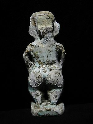 Zurqieh - Ancient Egypt - Huge Amulet Of A Dwarf, 600 - 300 B.c 3