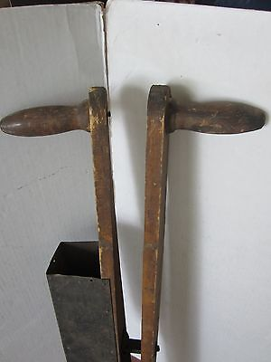 Primitive Pumpkin Seeder Wood Metal THE TRIUMPH Planter MARKED WI 1900's GARDEN 7
