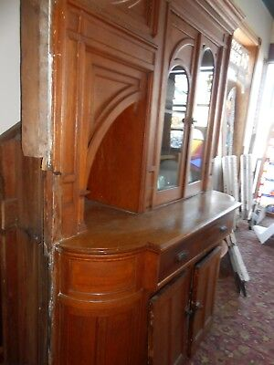 Outrageous Queen Anne Victorian Oak Built In Under Stairs Arched Window Cupboard