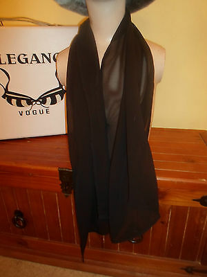 1 NEW Mixed Fibre Ladies Scarf CLASSY PLAIN BLACK ~ Gift Idea #97 4