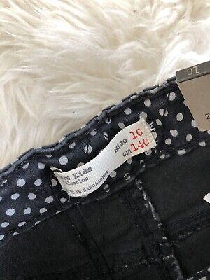 2fbbb959 NEW ZARA GIRL Kids Black White Polka Dot Skinny Jean Pants Jeggings Size 10