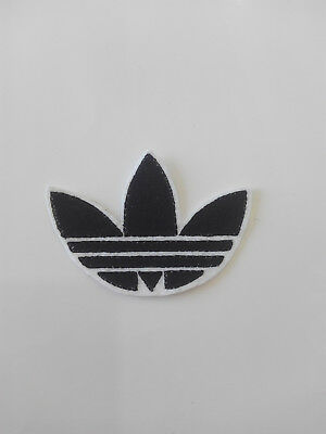 Parche bordado para  pegar , termoadhesivo estilo Adidas 7,5/5,5 cm adorno ropa 7