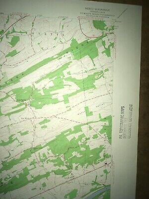 Mexico PA Juniata Co Old USGS Topographical Geological Survey Quadrangle Map 3