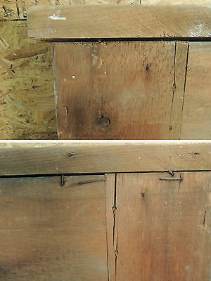 Antique 19c American Grain Painted Fireplace Mantel - Pine & Square Nail VR 11