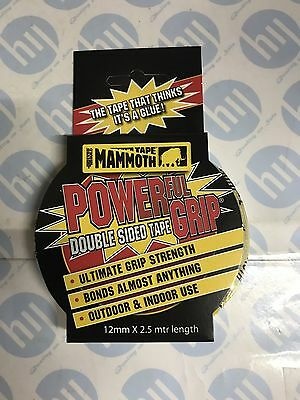 EverBuild 12mm x 2.5m Mammoth Powerful Grip Double Sided Strong Adhesive Tape 3
