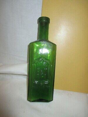 um 1900 grüne Arznei Flasche JODFERRATOSE : B & S : Boehringer , Mannheim 2