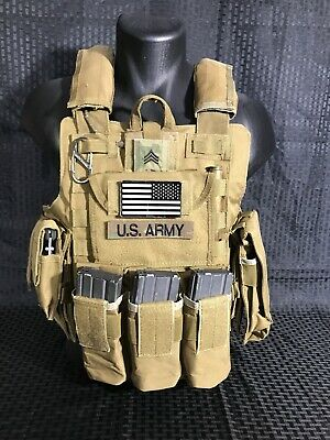 Tactical Vest COYOTE Tan Plate Carrier BODY ARMOR Military Matches Multicam 2