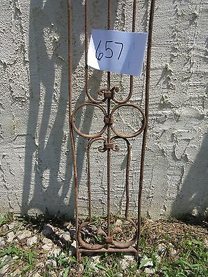 Antique Victorian Iron Gate Window Garden Fence Architectural Salvage Door #657 2