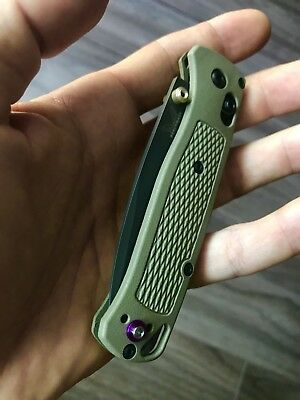 BENCHMADE BUGOUT CUSTOM Purple Titanium Scale Stud