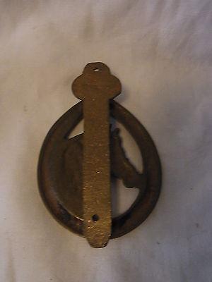 Vintage German Small Brass Door Knocker Horse #F 4