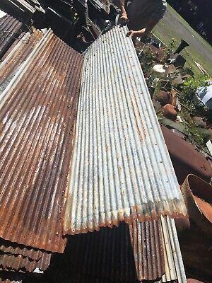 Vintage 8 ft Corrugated Roof Panel Tin Old Rusty Metal Restaurant Decor 105-18J