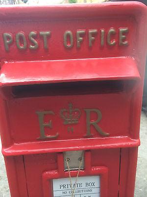 ER Royal Mail Post Box  ERII pillar box Red cast iron post box post office box 4