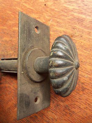 Antique Craftsman Victorian Bronze Doorbell Pull for Electric Doorbell c1895 2