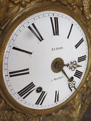 Movement of Grandfather Clock Pendulum Antique Bell Bronze Birds 8