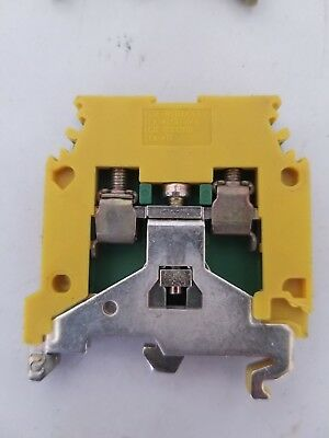 Entrelec 5113.M4//6P.4MM2 Green Yellow Wire Terminal Block 5113M46P4MM2 Lot of 10