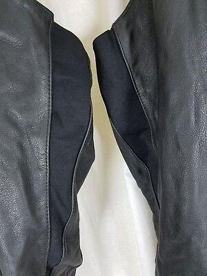 HARLEY DAVIDSON FRANGIA pelle Nera Motocicletta Chaps Pantaloni da Donna L