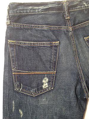 Abercrombie & Fitch Jeans BAXTER Indigo Destroy W28 L30 RRP $279 Mens or Boys 7