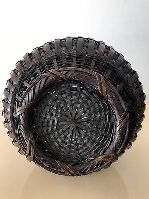 An Exceptional Japanese Bamboo Basket Ikebana from Meiji Period 11