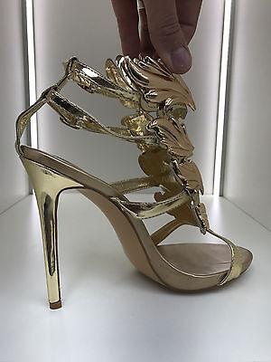 gladiator 13 cm Sexy Gold Gelb peeptoes fetish sky sandals high heels 43 42 us11 11