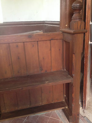 Victorian Church Neo Gothic Pew chapel settle bench Elders Seat Tall Slim 11